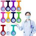 Силиконовые часы Медсестры Брошь Туника часы с бесплатной батареей доктор медицинский Лидер продаж Модные карманные часы