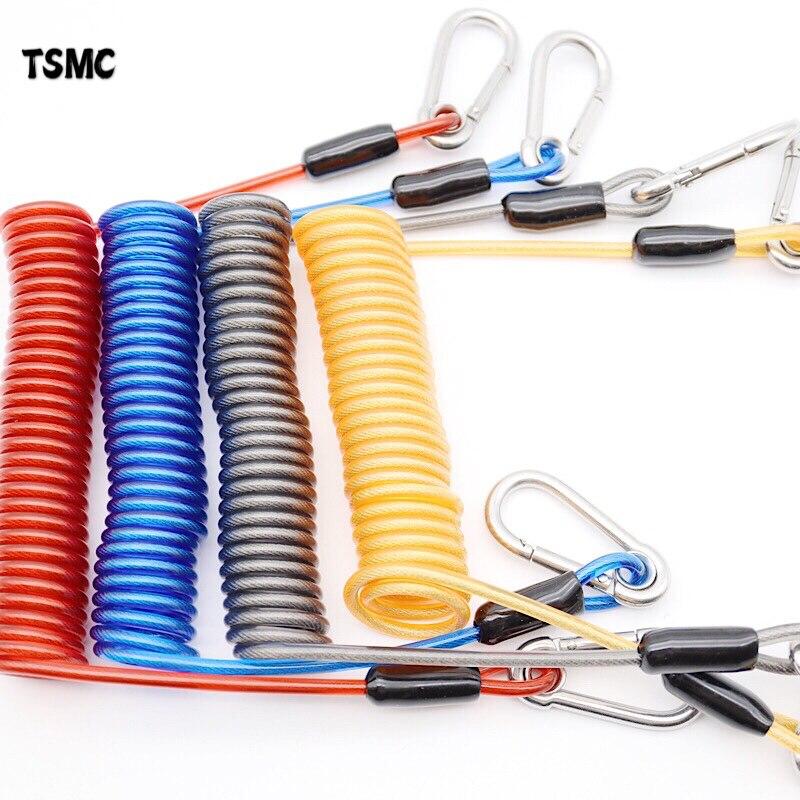 TSMC акваланг ремень для дайвинга 316 анти-потеря спиральная пружина катушки ремень безопасности аварийный инструмент с одной быстроразъемно...