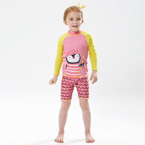 Men And Women Children Long Sleeve Sun-resistant Swimsuit Split Type Big Boy Shorts Quick-Dry Baby GIRL'S South Korea CHILDREN'S