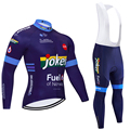 2020 мужские майки для велоспорта с длинным рукавом, Зимние флисовые рубашки для велоспорта, командная одежда для горного велосипеда