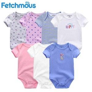 Image 5 - Baby Mädchen Kleidung Baumwolle Neugeborenen Jungen Baby Strampler 7 Teile/lose Kurzarm Kleinkind Kostüm Cartoon Baby Onesie Overall