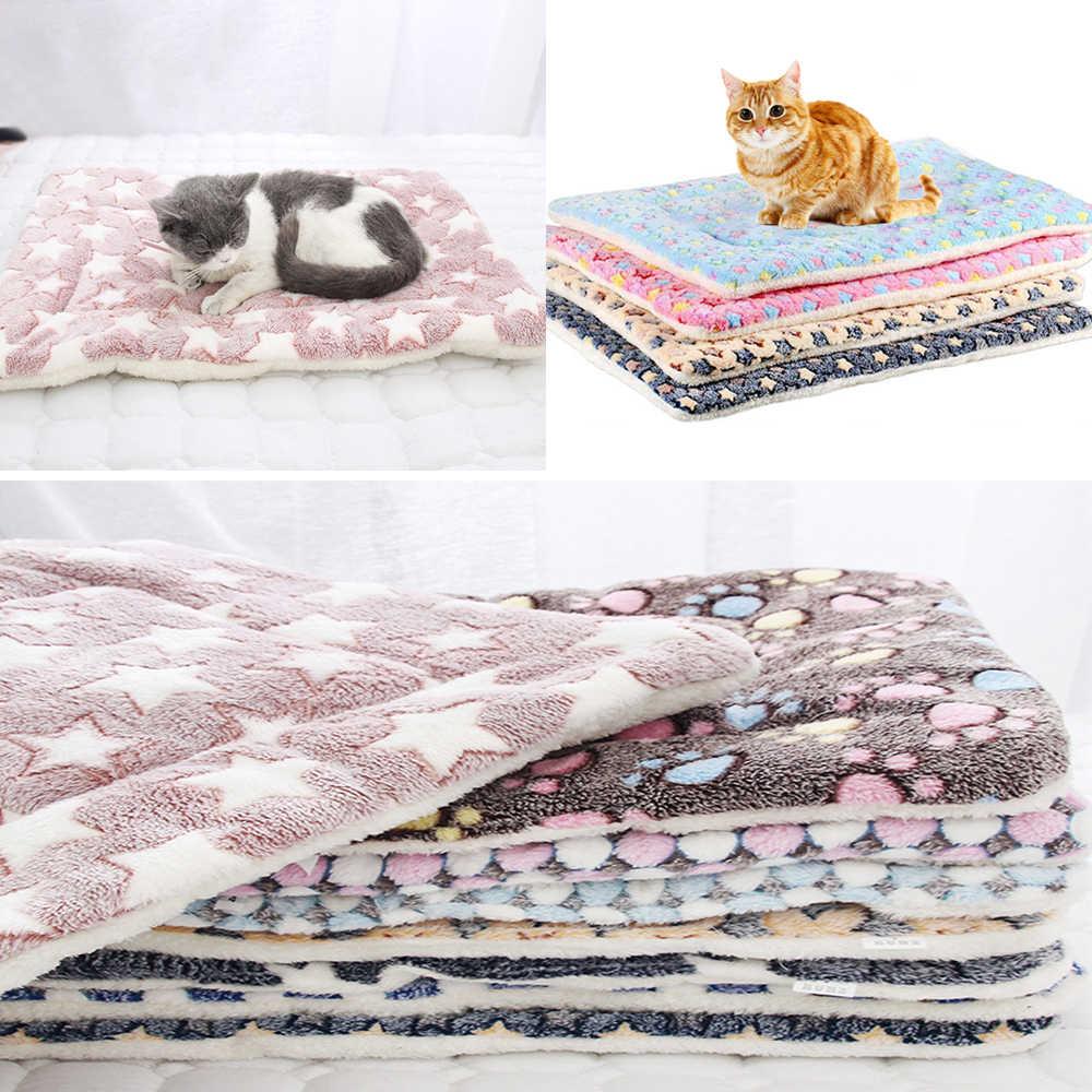 Zagęszczony Pet miękki polar Pad koc na łóżko mata dla szczeniaczek kot poduszka na sofę zmywalny dywan utrzymać ciepło S/M/L/XL/XXL/XXXL