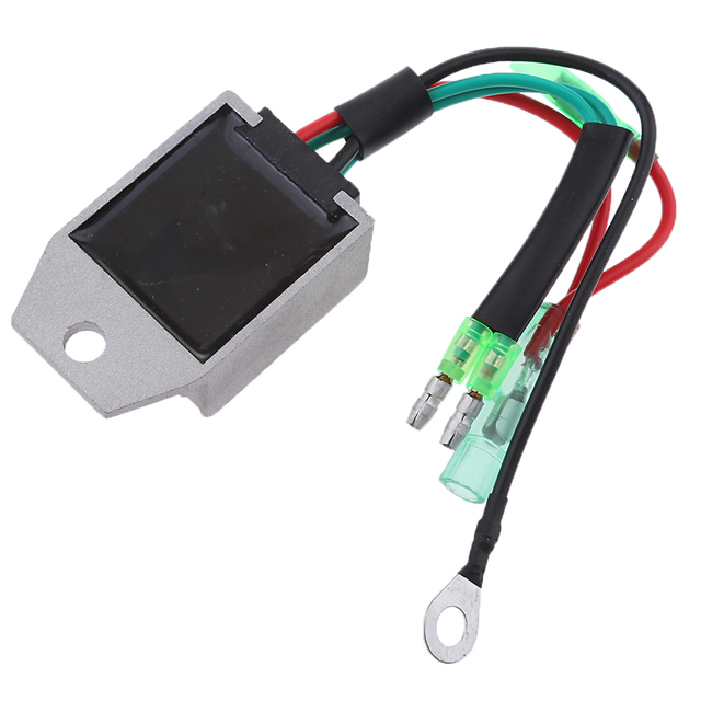 Boat Voltage Rectifier Regulator Fits for Yamaha 15HP 2-Stroke Motor Outboard Engines, Gray 1