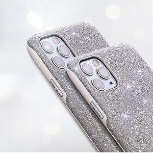 Image 3 - Bling bling glitter elmas parlayan lüks darbeye dayanıklı arka kasayı iPhone X XS XS MAX XR 12 11 Pro Max 7 8 artı funda kız