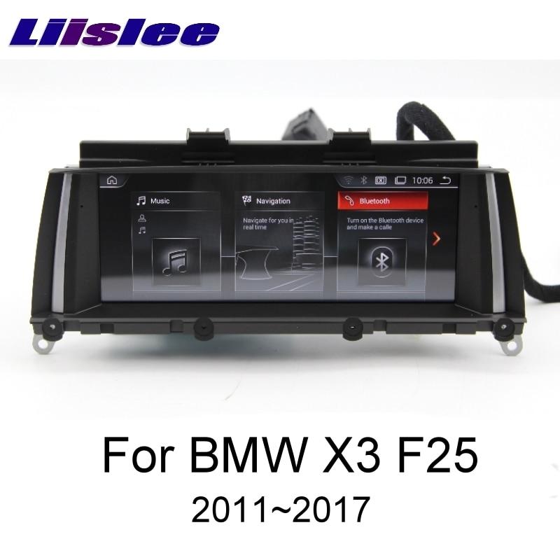 LiisLee pour BMW X3 F25 2011 ~ 2017 pour CIC NBT EVO système CarPlay TPMS voiture lecteur multimédia GPS Audio Radio Navigation NAVI