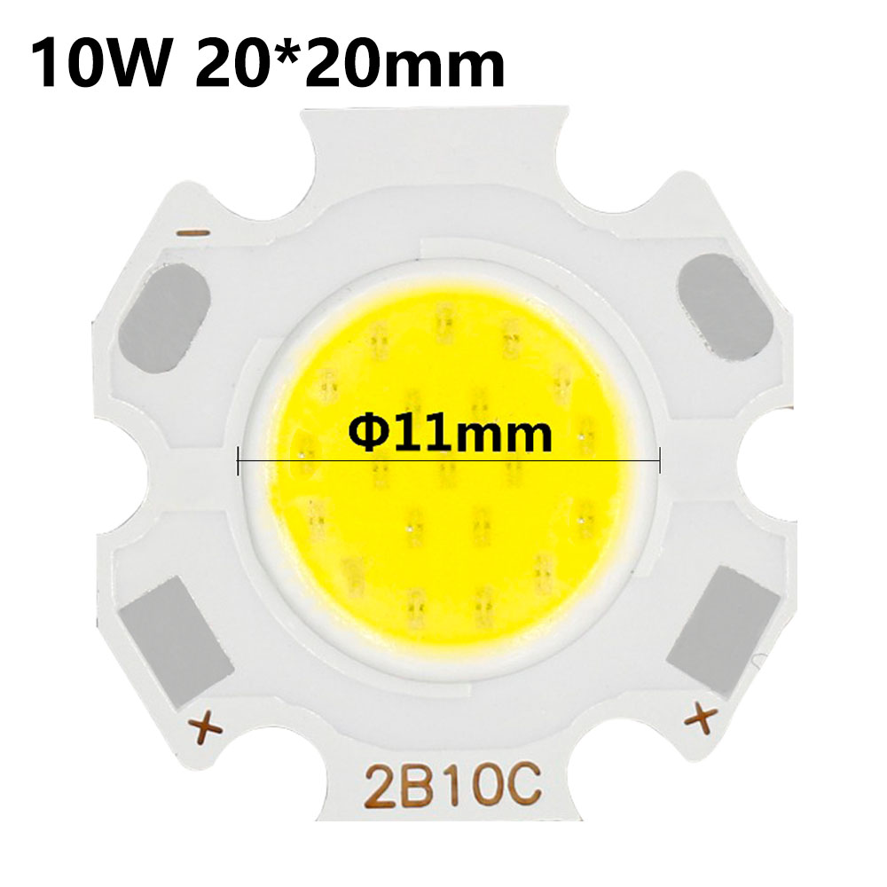 10pcs 3W 5W 7W 10W LED Source Chip High Power LED COB Light Bulb 20MM 28MM 13MM Light Lamp Spotlight Down Light Lamps Cold White