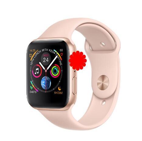 心拍数モニタ心電図スマート腕時計 1:1 44 ミリメートルシリーズ 4 ブルートゥーススマートウォッチ IWO 8 iphone XS 5 6 7 8 android 携帯  グループ上の 家電製品 からの スマートウォッチ の中 2