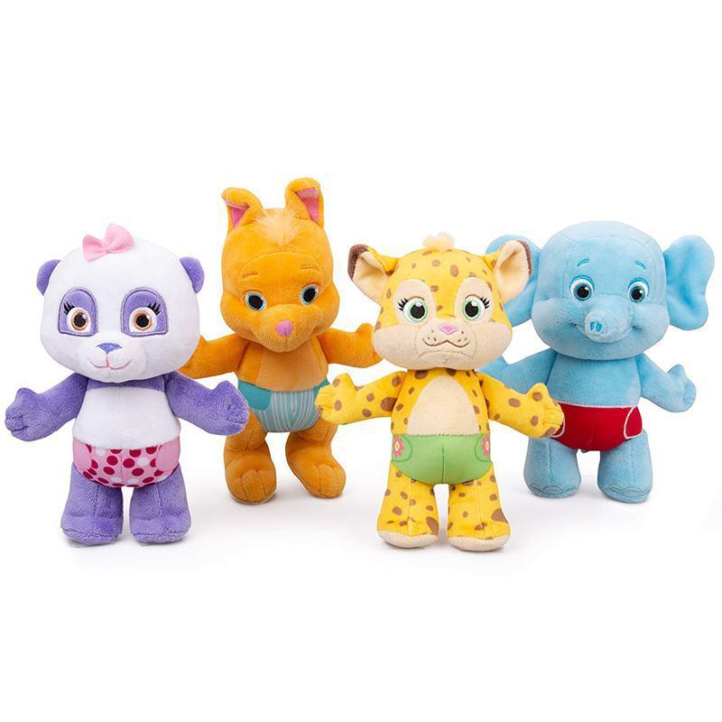 New 25cm  Word Party Plush Toys Panda Elephant Leopard Kangaroo Stuffed Animals Dolls For Kid Birthday Gift