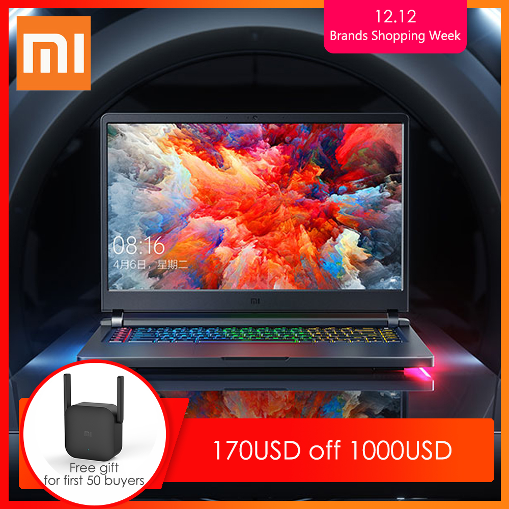 Original Xiaomi Mi Gaming Laptop 2019 Windows 10 Intel Core I7 - 9750H 16GB RAM 512GB SSD HDMI Notebook Type -C Bluetooth