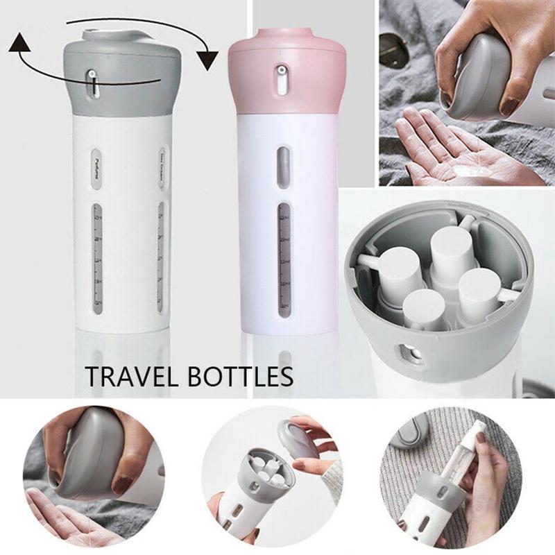 4 In 1 Lotion Dispenser Sub-Bottle Lotion Shampoo Shower Gel Bottle Travel Emulsion Bottling Dropshipping