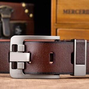 Image 3 - [DWTS] cintura da uomo cintura da uomo in pelle di alta qualità da uomo cinturino in vera pelle da uomo fibbia ad ardiglione di lusso jeans vintage fantasia spedizione gratuita