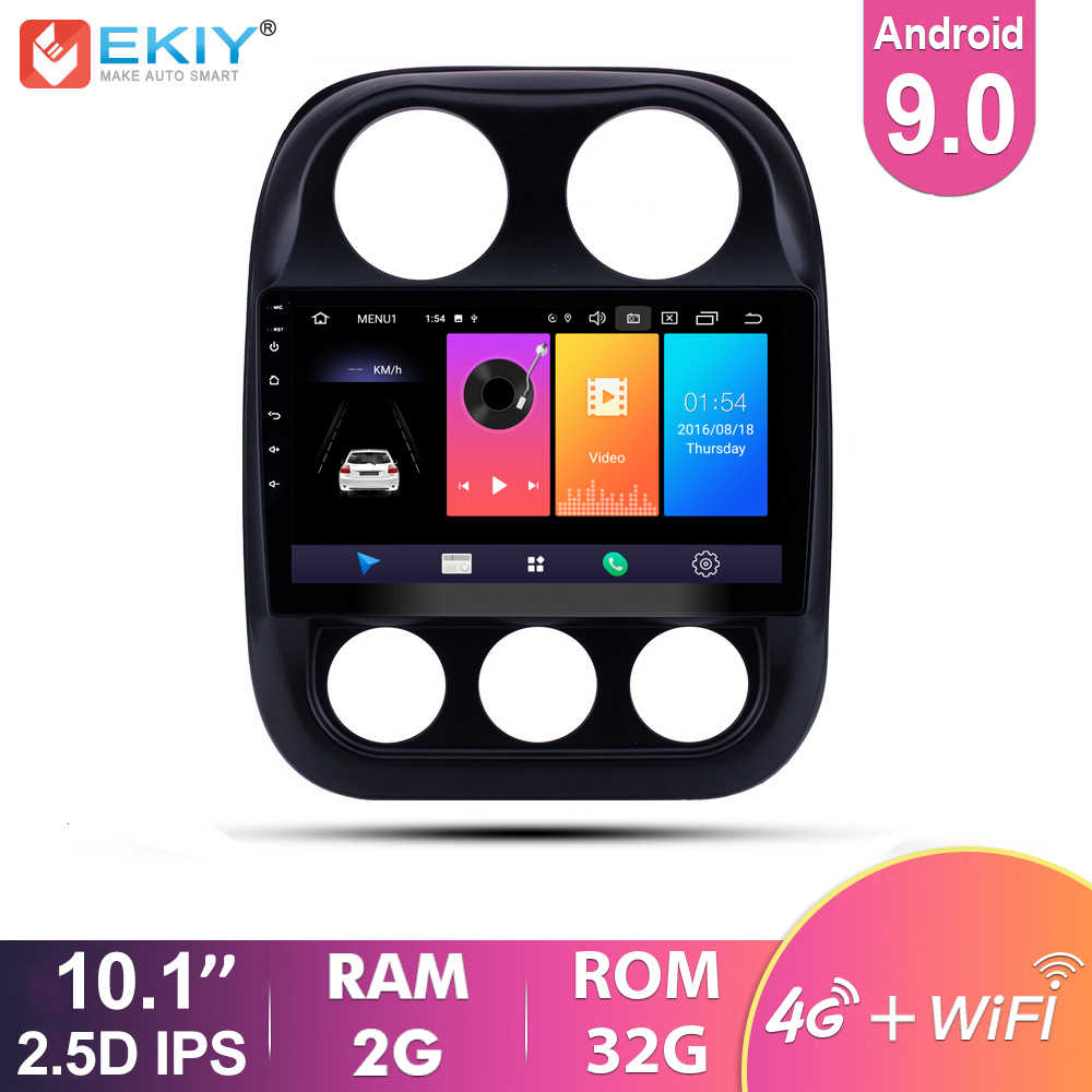 EKIY 2.5D IPS Android 9,0 coche Multimedia para Jeep Compass patriota 2010-2015 Auto Radio estéreo Navi GPS reproductor de Video 4G Wifi BT