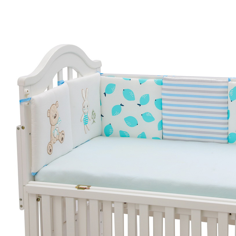 6pcs/set Baby Bumpers Cushion Room Decor Cot Crib Baby Kids Sleeping Bed  Newborn Safety Protection Pad Cushion YME008