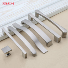 KK& FING современные ручки для шкафа ручки для выдвижных ящиков Ручки для кухонных дверей из алюминиевого сплава матовые ручки для шкафа оборудование для обработки мебели