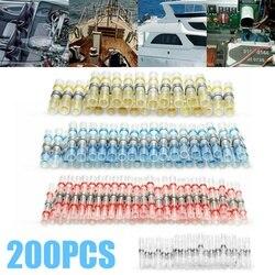 200 sztuk wodoodporna uszczelka lutownicza złącze dwuścienne projekt rurki termokurczliwe przewód izolowany Butt złącze elektryczne Terminal|Złącza|   -