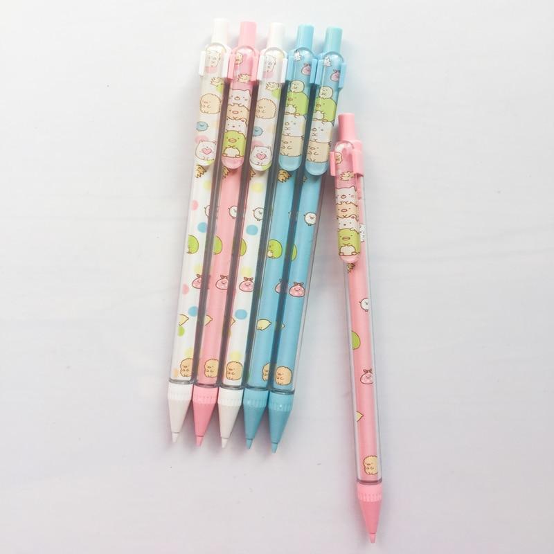 Купить с кэшбэком 3X Cute Sushi Family Press Automatic Mechanical Pencil With Eraser School Office Supply Student Stationery