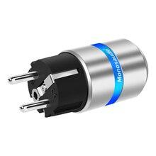 Monosaudio E106R/F106R Reinem Kupfer Rhodium Überzogene EU Typ Power Stecker Schuko Power Stecker Hifi DIY EU Version Power stecker