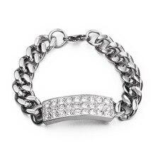 Циркониевый камень CZ нержавеющая сталь Золото золотые браслеты и браслеты из Майями звенья цепи браслеты для мужчин хип-хоп рок ювелирные изделия