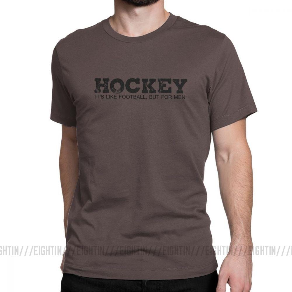 Hockey Funny Hockey Team League Humor T-Shirt but for Men Its Like Football