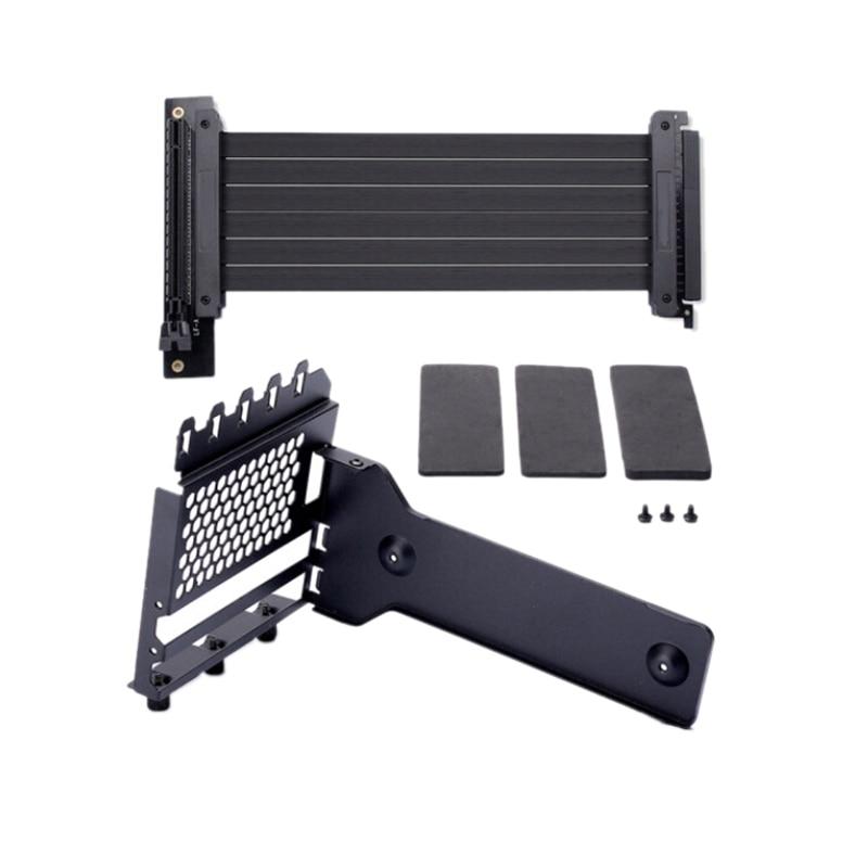 Anti Interference GPU Extension Line Computer PCI-E X16 Vertically VGA Card Graphics Card Bracket Set Suit 7 Slot Mount