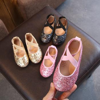Girls Party Shoes Princess Shoes Glitter Crystals Kids Shoes Summer Sneaker Children Christmas Gift 26-35 Size tanie i dobre opinie FMZXG 13-24m 25-36m CN (pochodzenie) Wiosna i jesień Kobiet Pasuje prawda na wymiar weź swój normalny rozmiar Cotton Fabric