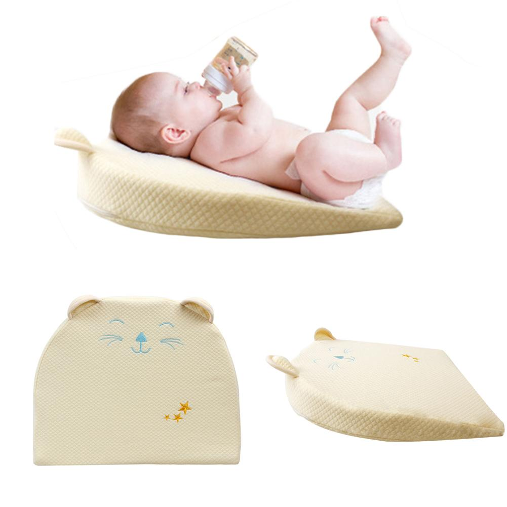 Comfortable Baby Pillow Head Shaping Memory Foam Pillow Improve Sleep Position Newborn Wedge Pillow For Relief And Acid Reflux
