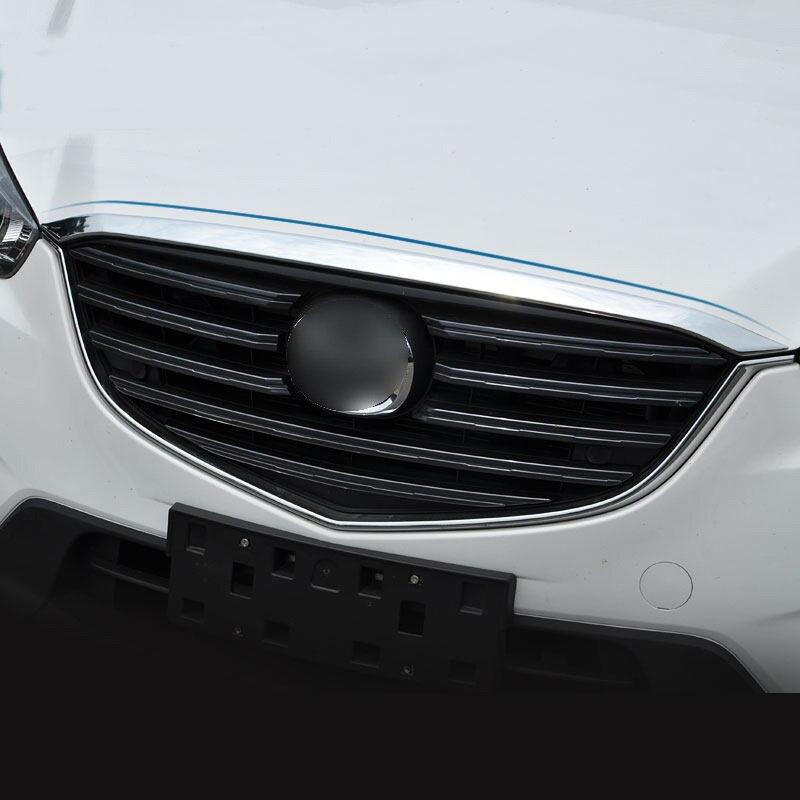KOUVI ABS Chrome Grille Kap Motorkap Trim auto styling Voor Mazda - Auto-onderdelen