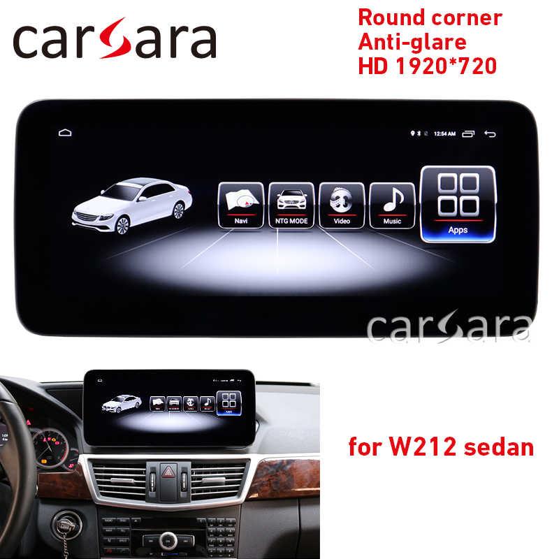 Actualización de sistema Comand E class W212 Pantalla de esquina redonda retroajuste E200 pantalla antideslumbrante E250 4G RAM 1920 tablet E300 android NAVI