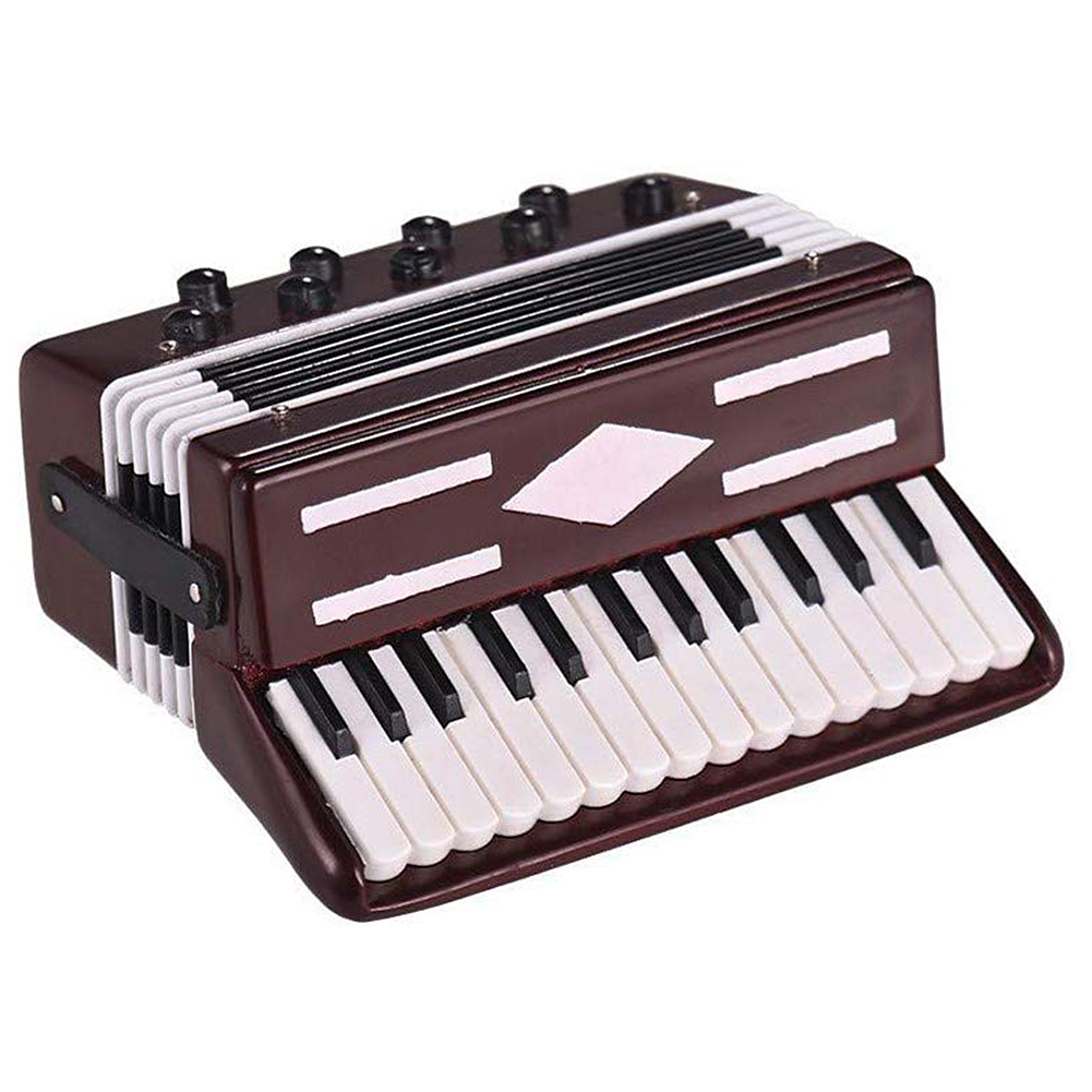 Mini Accordion Model Exquisite Desktop Music Instrument Decoration Ornaments Music Gift with Storage Case Dropshipping O23