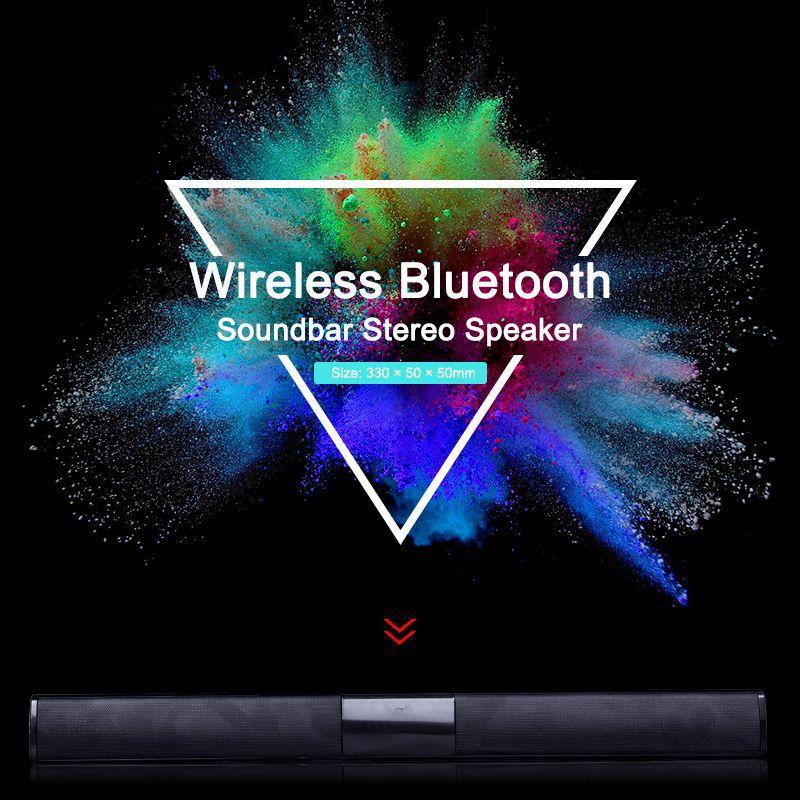 VTIN BS28B Wireless Bluetooth Soundbar Speaker TV Home Theater Soundbar Subwoofer with RCA 3D Stereo Surround Sound Speaker (22)
