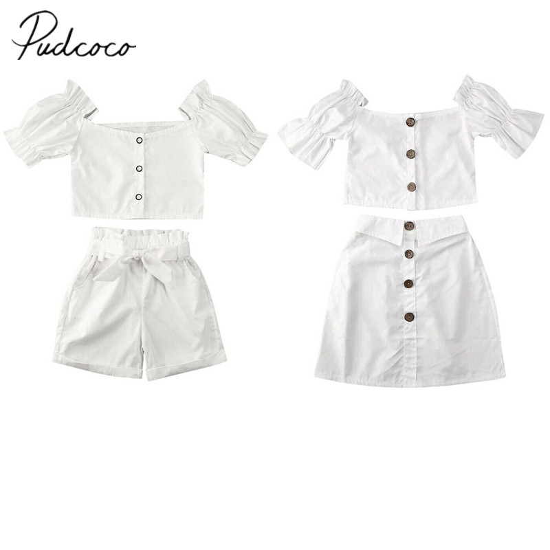 Kids Girls Girls Shirt Tops Butterfly Tutu Bowknot Set Princess Clothing Suits
