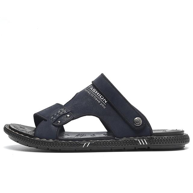 Фото модные летние шлепанцы tantu для мужчин дышащие уличные сандалии цена