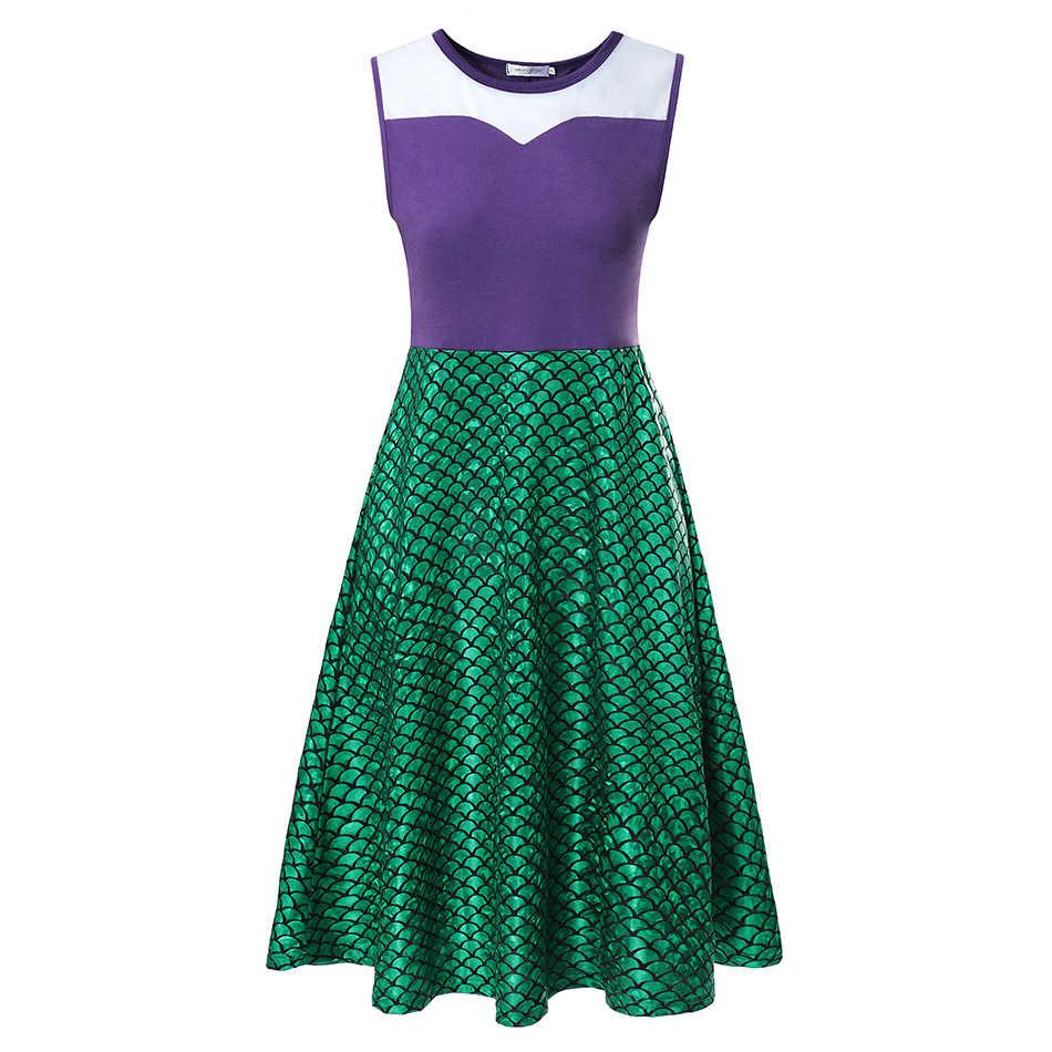 Princesse robes de fête pour adulte coton maléfique robes femme petite sirène Costume Vaiana Wonder femme robe