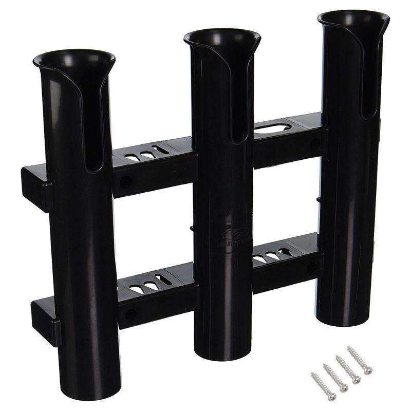 2 Pieces Set Triple 3 Rod Holder Rack Rest Mount Bracket for Boat Fishing