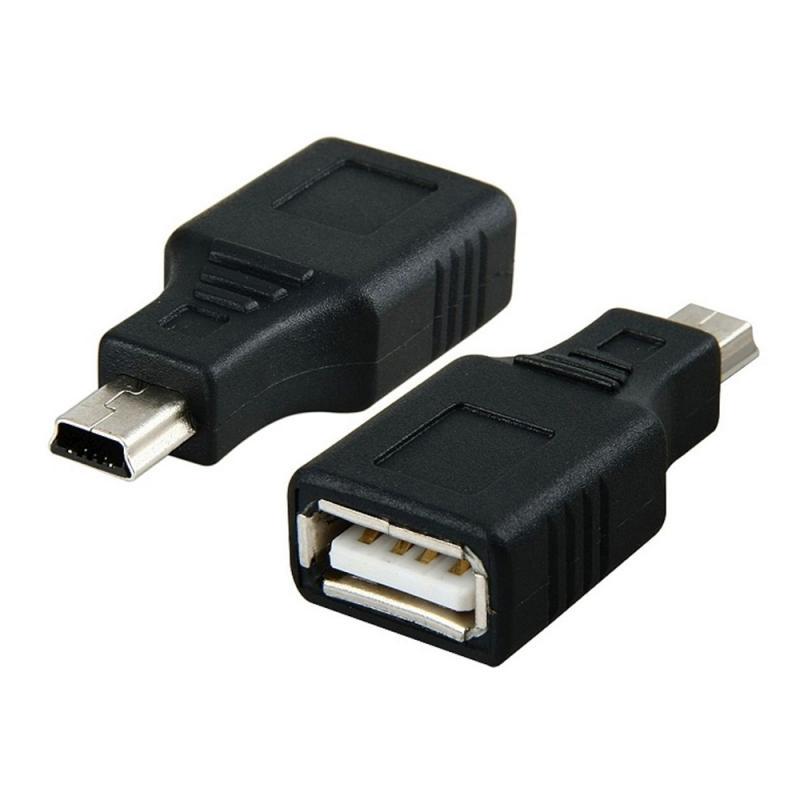 1 шт. USB 2,0 конвертер адаптер Женский Mini 5-контактный штекер планшетный адаптер зарядное мини-устройство работающее от прикуривателя адаптер ...