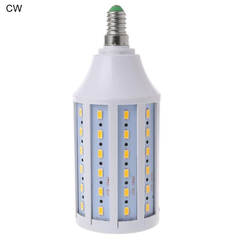 E14 светодиодный энергосберегающий светильник 20 Вт AC 220 В теплый/холодный белый свет Кукуруза лампа 5730 SMD для украшения дома AXYC - Испускаемый цвет: CW