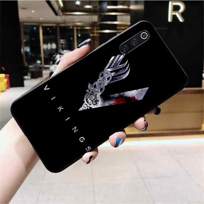 NBDRUICAI Ragnar Lothbrok Vikings Nero Molle Del Telefono Della Copertura di Caso per Xiaomi Mi10 10Pro 10 lite Mi9 9SE 8SE Pocophone F1 mi8 Lite