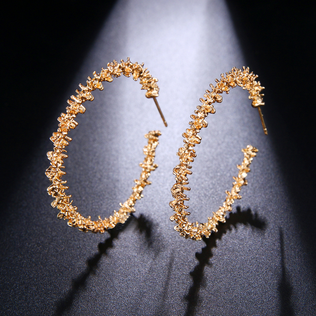 New design creative jewelry high grade Vintage metal earrings Geometric gold earrings wedding party earrings for.jpg 640x640 - New design creative jewelry high-grade Vintage metal earrings Geometric gold earrings wedding party earrings for woman
