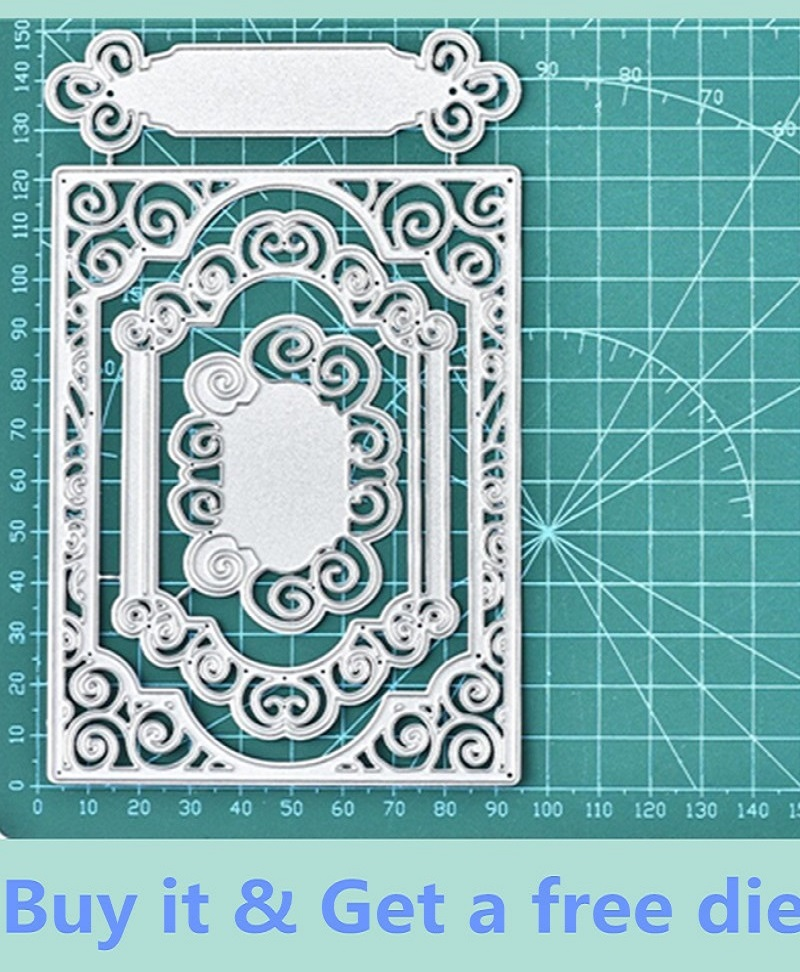 Greeting Letters Circles Photo Album Decor Cutting Dies Embossing Stencil
