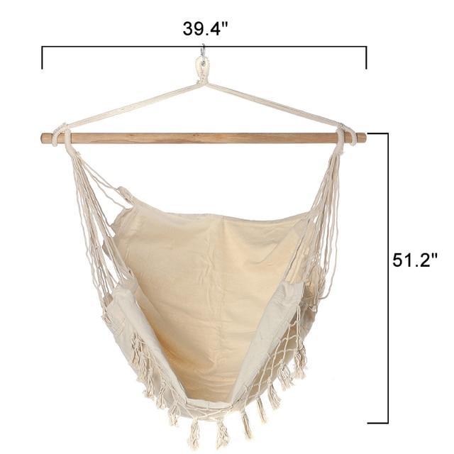 Bohemia Style Hanging Fabric Hammock  6