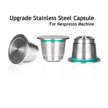 Cápsula de cafeteira permanente nespresso, cápsula de aço inoxidável recarregável para cafeteiras nespresso cafeteira permanente