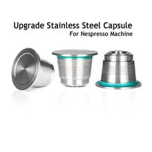 Capsules rechargeables de Nespresso, café en acier inoxydable, en Inox, filtre Permanent, doseur, pour Machines Nespresso