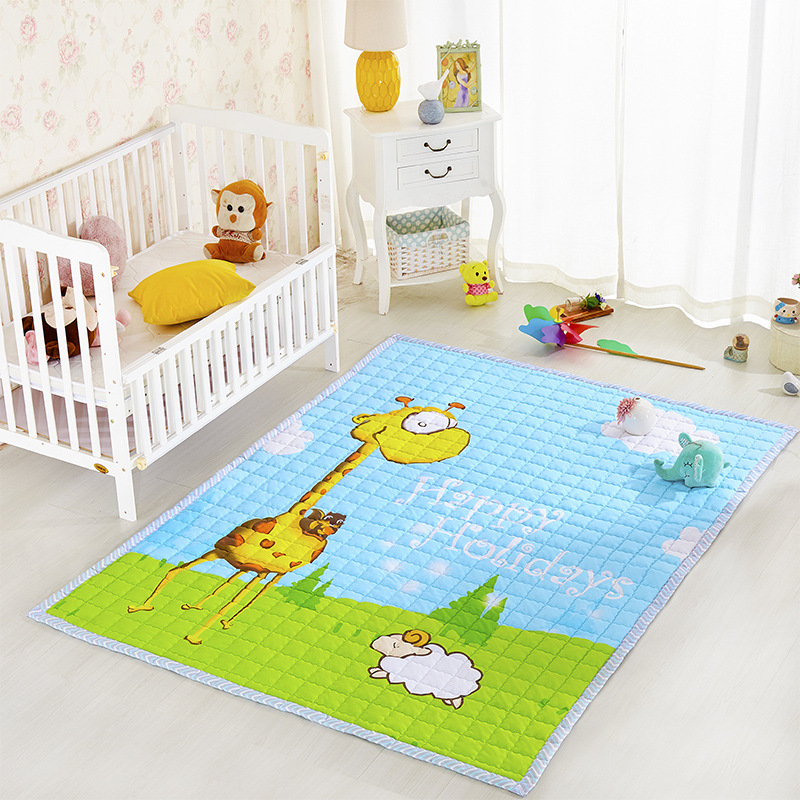 Cotton Baby Kids Play Crawl Mat Yoga Tatami Picnic Simple Storage Large Size Living Room Activity Floor Mat Children Toy Rug