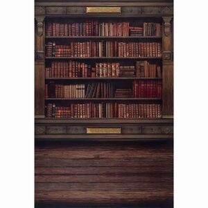 Image 3 - 사진 스튜디오에 대 한 Allenjoy 선반 배경 빈티지 개인 도서관 책장 벽난로 로마 열 사진 배경