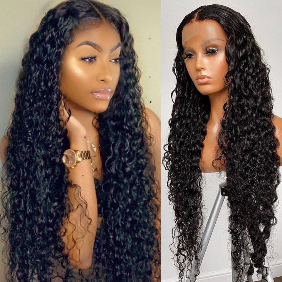 Onetaide peruca longa 28 30 32 polegada onda de água peruca dianteira do laço brasileiro frente perucas de cabelo humano para as mulheres laço frontal peruca encerramento