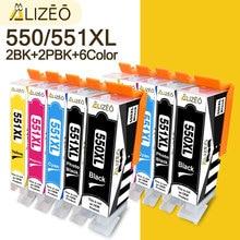 PGI 550 CLI 551 compatible Ink Cartridges PGI 550 XL CLI 551 XL For Canon Pixma ip7200 iP7250 MG5450 MG5550 MG6350 MG6450 MG7150