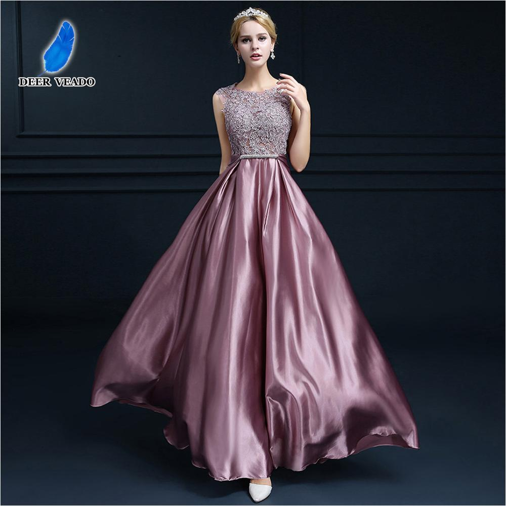 DEERVEADO 2019 Sexy Open Back Long Golden Evening Dress Plus Size Evening Gown Formal Prom Party Dresses Robe De Soiree S306