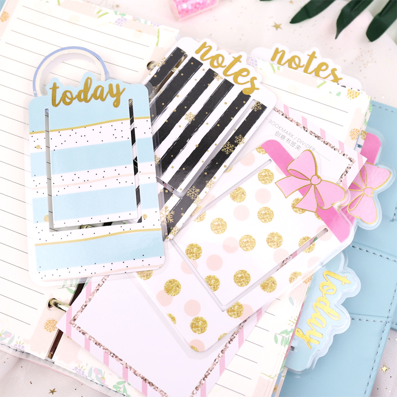 Frontheon PVC Covered Plastic Bookmarks For Planner Organizer Today Week Month Notes Index Book Markers Bullet Journals Supplies
