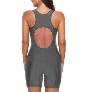 Image 4 - Riseado ספורט Boyleg חתיכה אחת בגד ים חדש 2020 בגדי ים נשים טלאי רחצה חליפות רייסר חזרה הכשרת נשים