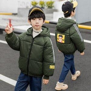 Image 4 - Çocuk giyim erkek pamuk kapitone ceket yeni çocuk kış ceket